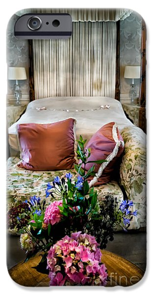Cushions iPhone Cases - Four Poster Bed iPhone Case by Adrian Evans