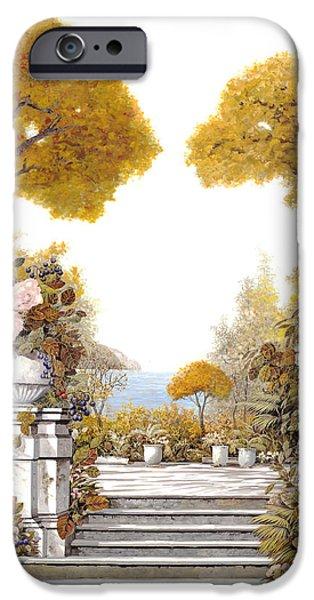 four seasons-autumn on lake Maggiore iPhone Case by Guido Borelli