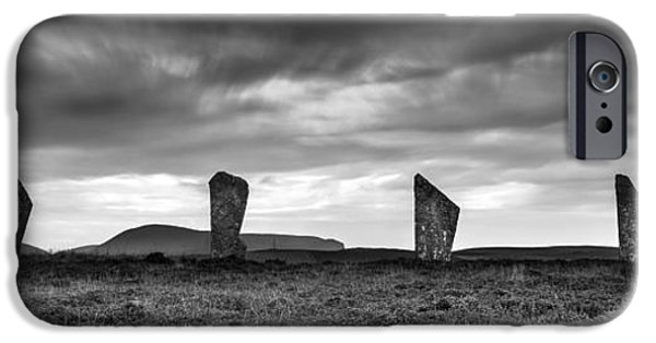 Historic Site iPhone Cases - Four Stones of Brodgar iPhone Case by Dave Bowman