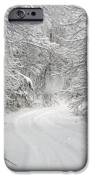 Four Wheel Winter iPhone Case by John Haldane