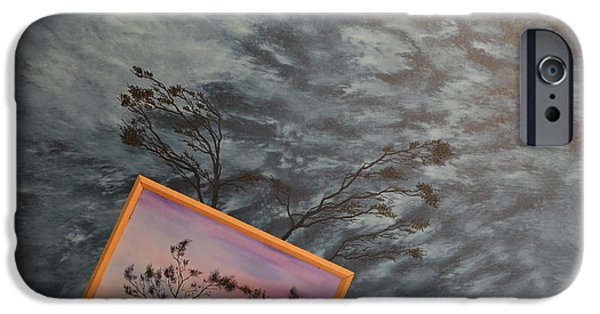 Turbulent Skies Paintings iPhone Cases - Four Winds of Change iPhone Case by Stuart Engel