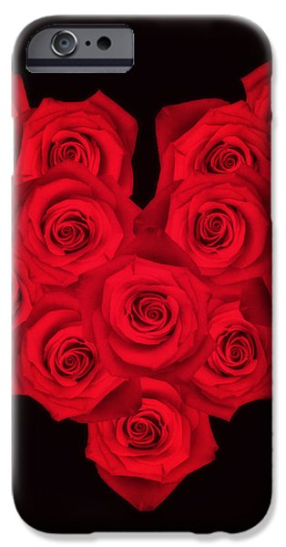 Fourteen Roses iPhone Case by Wim Lanclus