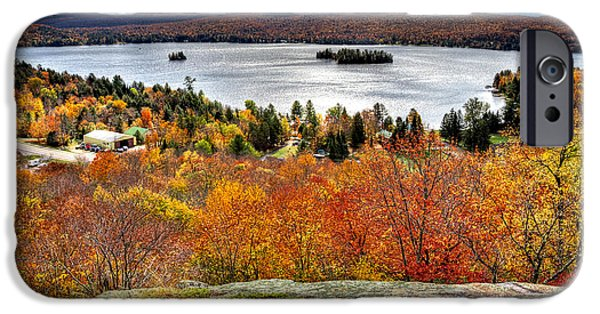 David Patterson iPhone Cases - Fourth Lake from Above iPhone Case by David Patterson