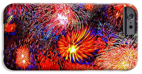 4th July Digital Art iPhone Cases - Fourth of July 2 iPhone Case by Bruce Iorio