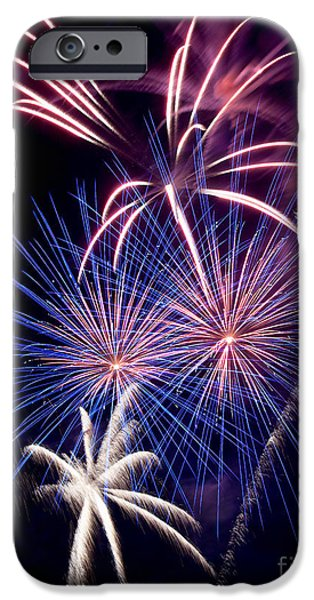 Fourth Of July iPhone Cases - Fireworks iPhone Case by Vizual Studio