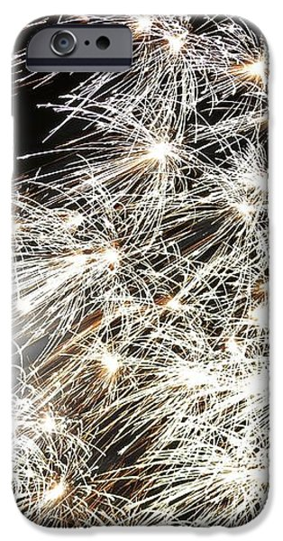 Fourth of July Fireworks iPhone Case by Kim Bemis