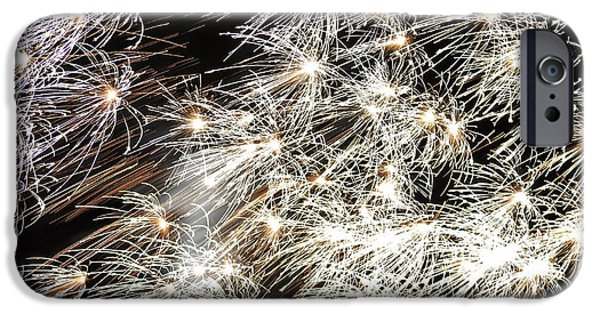 4th July Photographs iPhone Cases - Fourth of July Fireworks iPhone Case by Kim Bemis