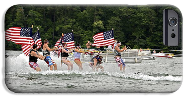 July iPhone Cases - Fourth of July on the Lake iPhone Case by Susan Leggett