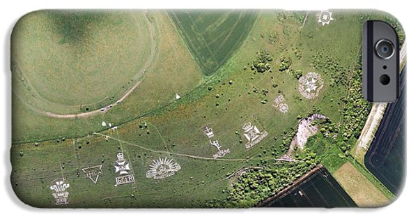World War One iPhone Cases - Fovant Badges, Aerial Photograph iPhone Case by Getmapping Plc