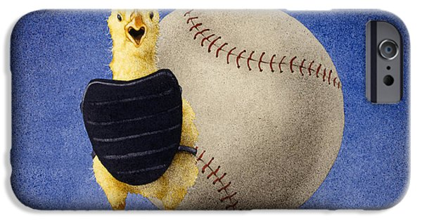 Paintings iPhone Cases - Fowl Ball... iPhone Case by Will Bullas
