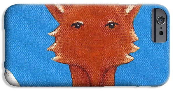 Fox Paintings iPhone Cases - Fox iPhone Case by Christy Beckwith