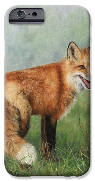Red Fox iPhone Cases - Fox  iPhone Case by David Stribbling