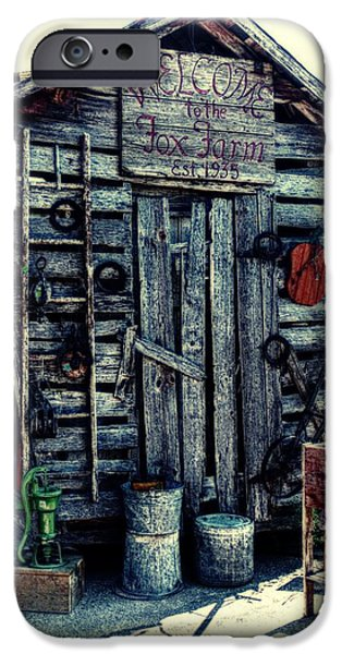 Historic Site Mixed Media iPhone Cases - Fox Farm iPhone Case by Todd and candice Dailey