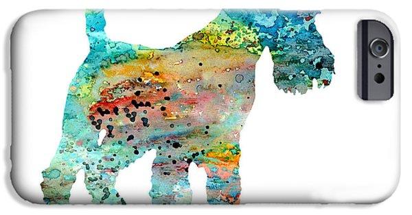 Fox Terrier iPhone Cases - Fox Terrier  iPhone Case by Luke and Slavi