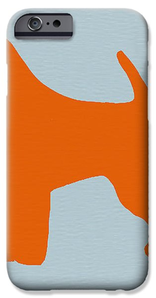 Fox Terrier Orange iPhone Case by Naxart Studio