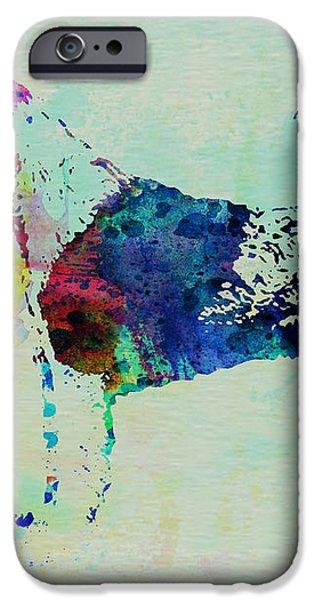 Fox Terrier Watercolor iPhone Case by Naxart Studio