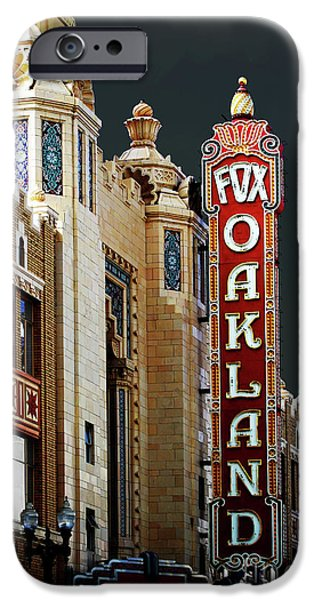 Wingsdomain iPhone Cases - Fox Theater . Oakland California iPhone Case by Wingsdomain Art and Photography