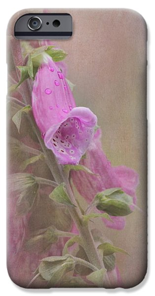 Foxglove Flowers Photographs iPhone Cases - Foxglove iPhone Case by Angie Vogel