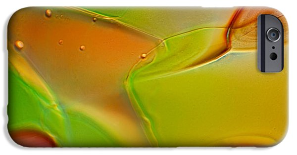 Fine Abstract Glass iPhone Cases - Foxy iPhone Case by Omaste Witkowski