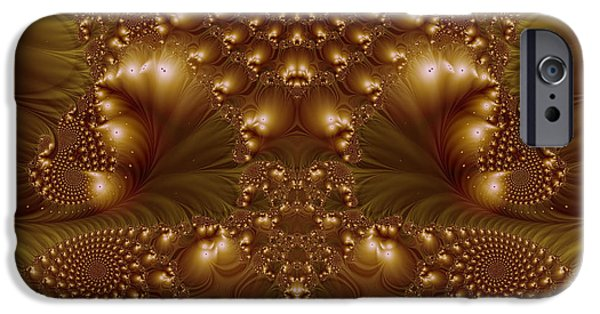 Concept Digital Art iPhone Cases - Fractal 00146 iPhone Case by George Cuda