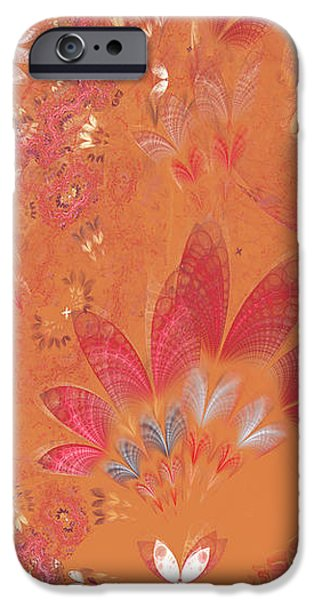 Fractal - Abstract - Japanese motif iPhone Case by Mike Savad