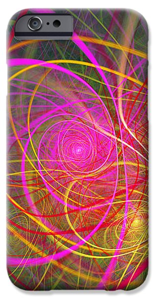 Fractal - Abstract - Loopy Doopy iPhone Case by Mike Savad