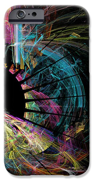 Fractal - Black Hole iPhone Case by Susan Savad