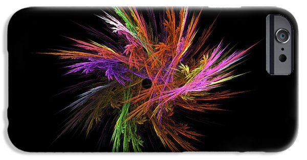 """digital Abstract"" iPhone Cases - Fractal Flame - Digital Flower Image - Modern Art iPhone Case by Keith Webber Jr"