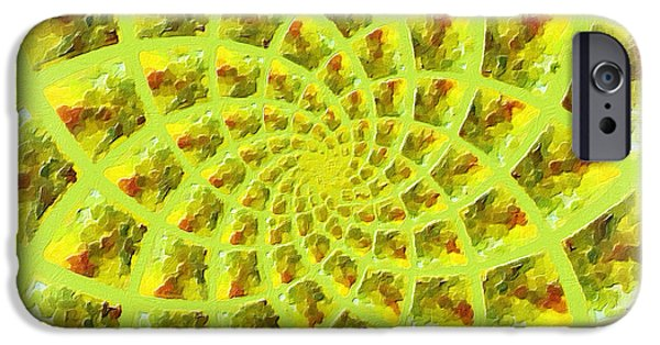 Fractal Paintings iPhone Cases - Fractal Flower iPhone Case by Bonnie Bruno