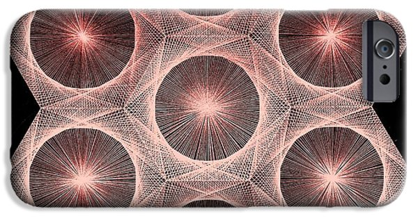 Einstein Drawings iPhone Cases - Fractal Fusion hw Equals mc squared iPhone Case by Jason Padgett