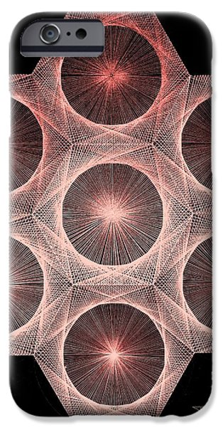 Fractal Fusion hw Equals mc squared iPhone Case by Jason Padgett