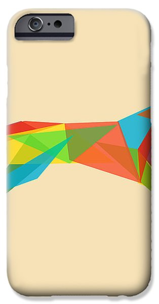 Fractal geometric dog iPhone Case by Budi Kwan