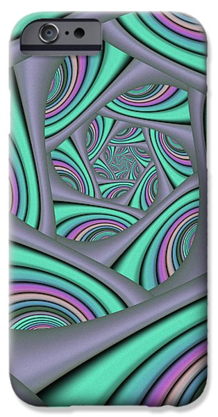 Graphic Design iPhone Cases - Fractal In Itself iPhone Case by Gabiw Art