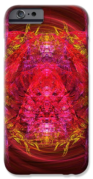 Fractal - Insect - Jeweled Scarab iPhone Case by Mike Savad