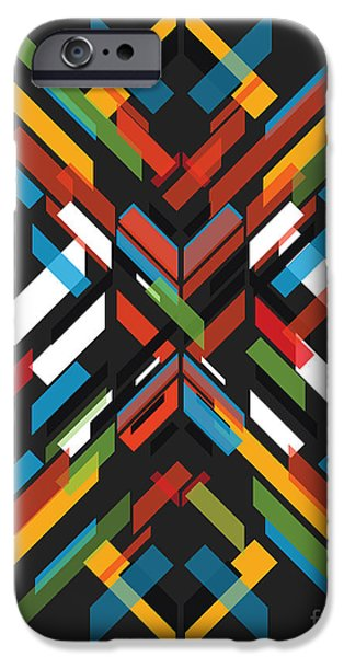 Geometric Shape iPhone Cases - Fractal Pattern iPhone Case by Budi Satria Kwan