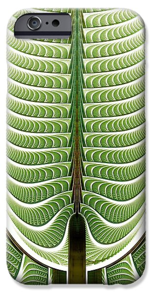 Pines Mixed Media iPhone Cases - Fractal Pine iPhone Case by Anastasiya Malakhova