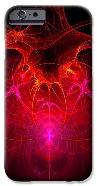 Fractal - Science - The neural network iPhone Case by Mike Savad