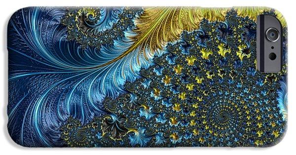 Fractal iPhone Cases - Fractal Spiral 3 - A Fractal Abstract iPhone Case by Ann Garrett