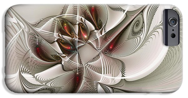 Three Sizes iPhone Cases - Fractal With Interior View iPhone Case by Karin Kuhlmann
