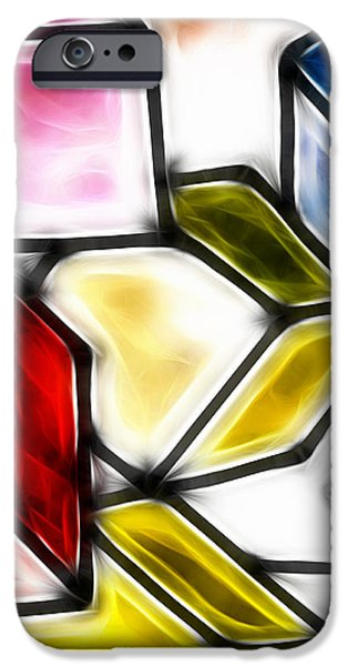 Fractalius cubes iPhone Case by Sharon Lisa Clarke
