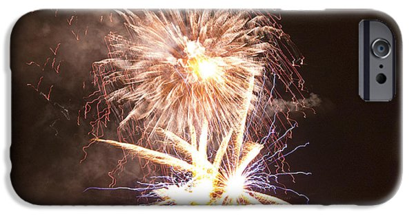 Fireworks iPhone Cases - Fractions of Light iPhone Case by Brenda Kean