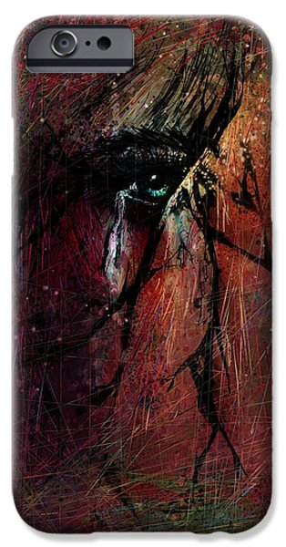 Disorder iPhone Cases - Fracture iPhone Case by Rachel Christine Nowicki