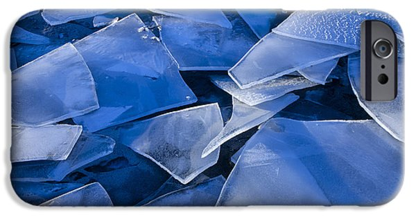 Nature Abstracts iPhone Cases - Fractured Surface Ice Drifted To The iPhone Case by John Hyde