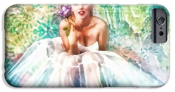 Ballet Dancers iPhone Cases - Fragile iPhone Case by Mo T