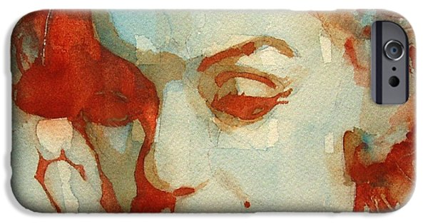 Marilyn Portrait iPhone Cases - Fragile iPhone Case by Paul Lovering