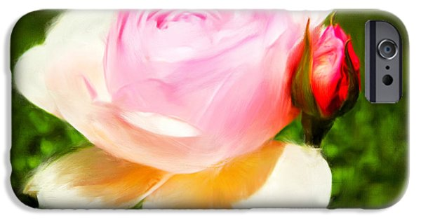 Rose iPhone Cases - Fragility iPhone Case by Lourry Legarde