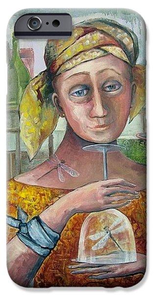 Wine Bottles iPhone Cases - FRAGILITY of FREEDOM iPhone Case by Elisheva Nesis