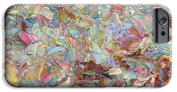 Abstracted iPhone Cases - Fragmented Hill iPhone Case by James W Johnson