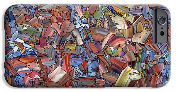 Abstracted iPhone Cases - Fragmented Rose iPhone Case by James W Johnson
