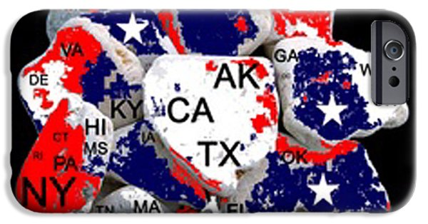 Ww1 iPhone Cases - FRAGMENTED STATES of the UNION iPhone Case by Bruce Iorio